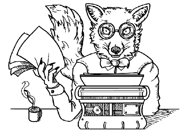 Liška psavá